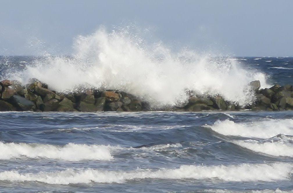 Wellen an der Ostsee