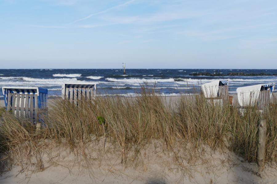 Strand und Meer in Damp