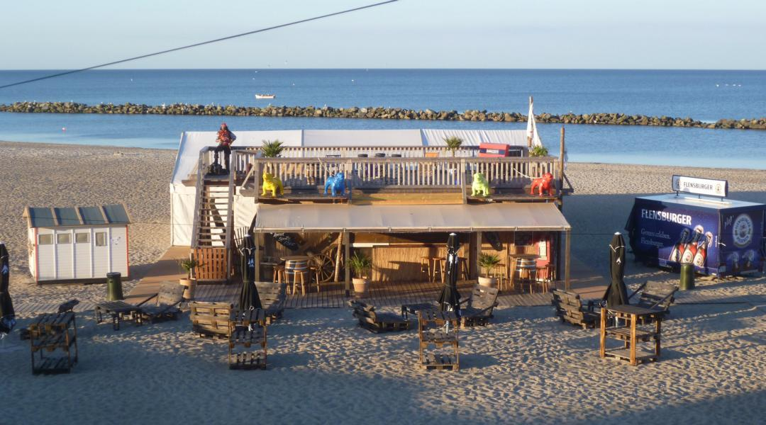Strandbar an der Ostsee