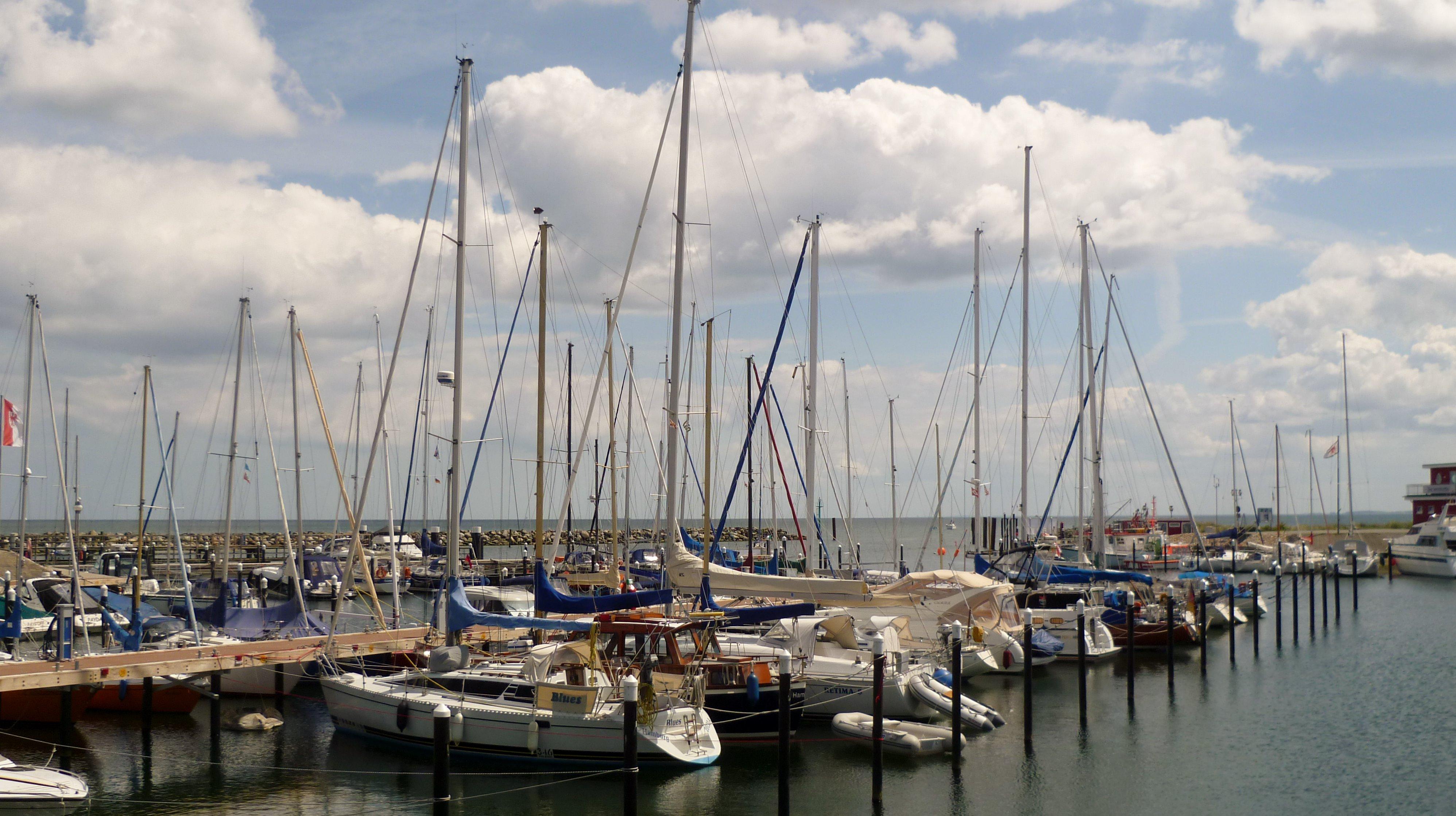 Yachthafen in Damp